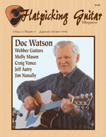 Flatpicking Guitar Magazine Cover of Doc Watson