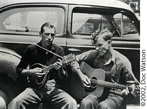 "Doc Watson and Clarence ""Frog"" Greene Photo"